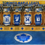 Maple Leafs locker room
